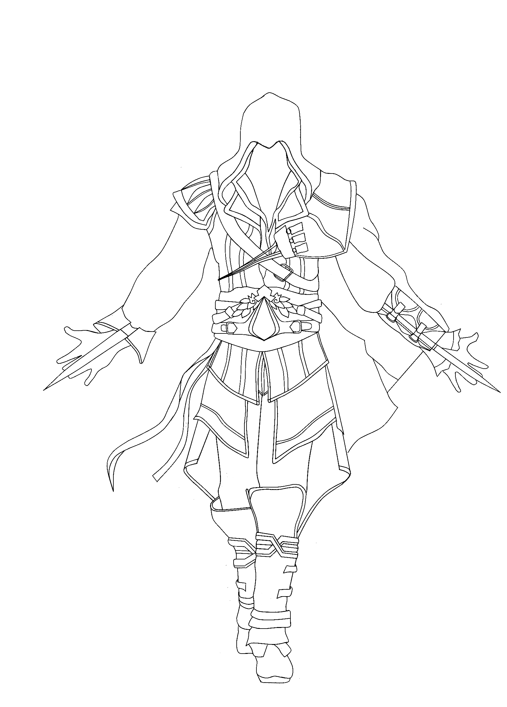 Free Assassin Creed Coloring Pages Holidays Birthdays