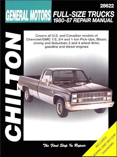 Chevy Gmc Pick Ups Repair Manual 1980 1987 Chilton Repair