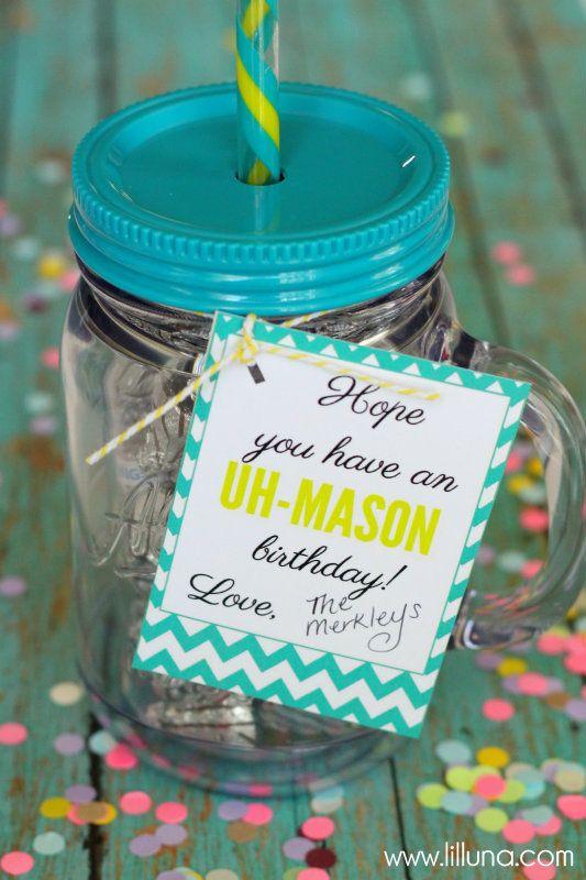 Gift idea using mason jar cups from walmart target or costco gift idea using mason jar cups from walmart target or costco with free printable tags negle Gallery