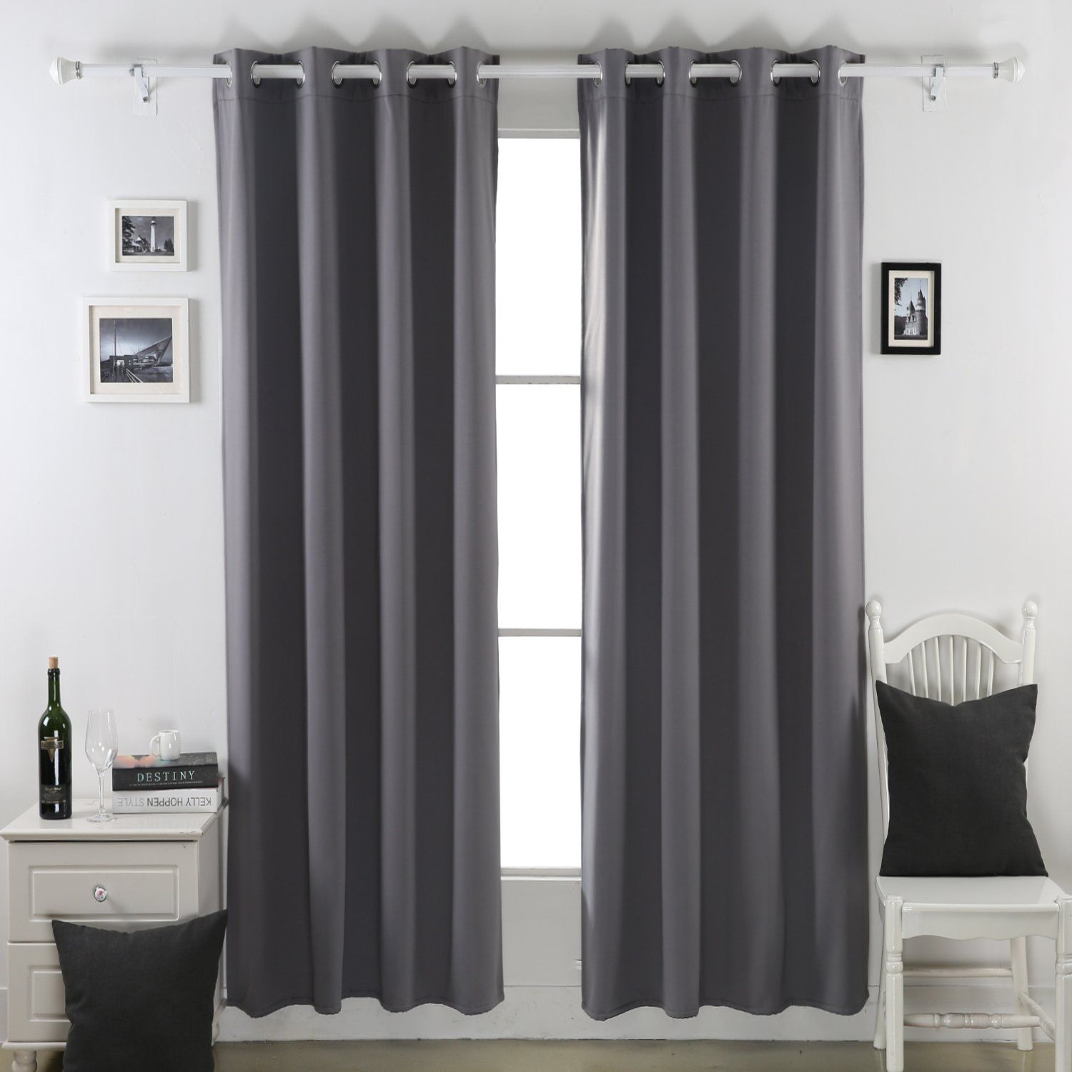 Heavy Thermal Curtains Deconovo Heavy Duty Thermal Insulated Grommet Winter Blackout