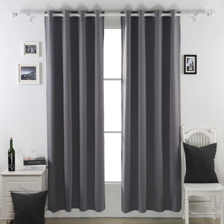 Amazon Com Deconovo Heavy Duty Thermal Insulated Grommet Winter Blackou Thermal Insulated Blackout Curtains Insulated Blackout Curtains Curtains Living Room