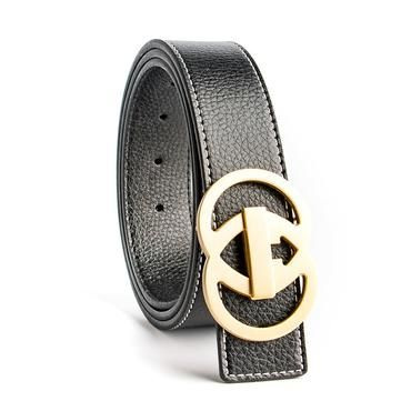 71a56267c7b ECHAIN Luxury Solid Brass Double G Designer Belts Men High Quality Male  Women Genuine Real Leather GG Buckle Strap for Jeans