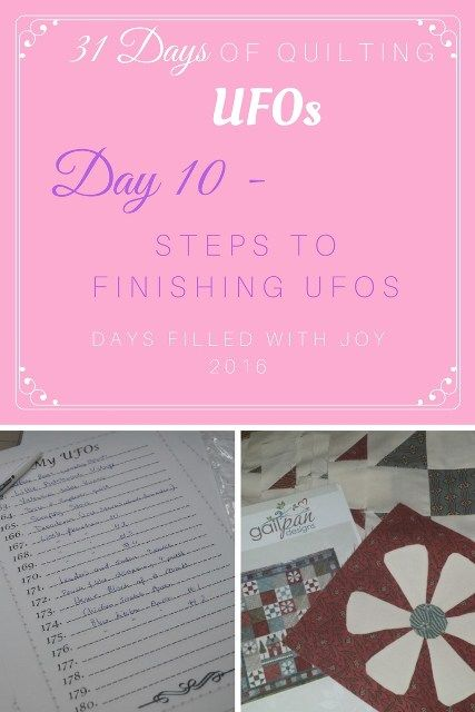 Steps to finishing UFOs