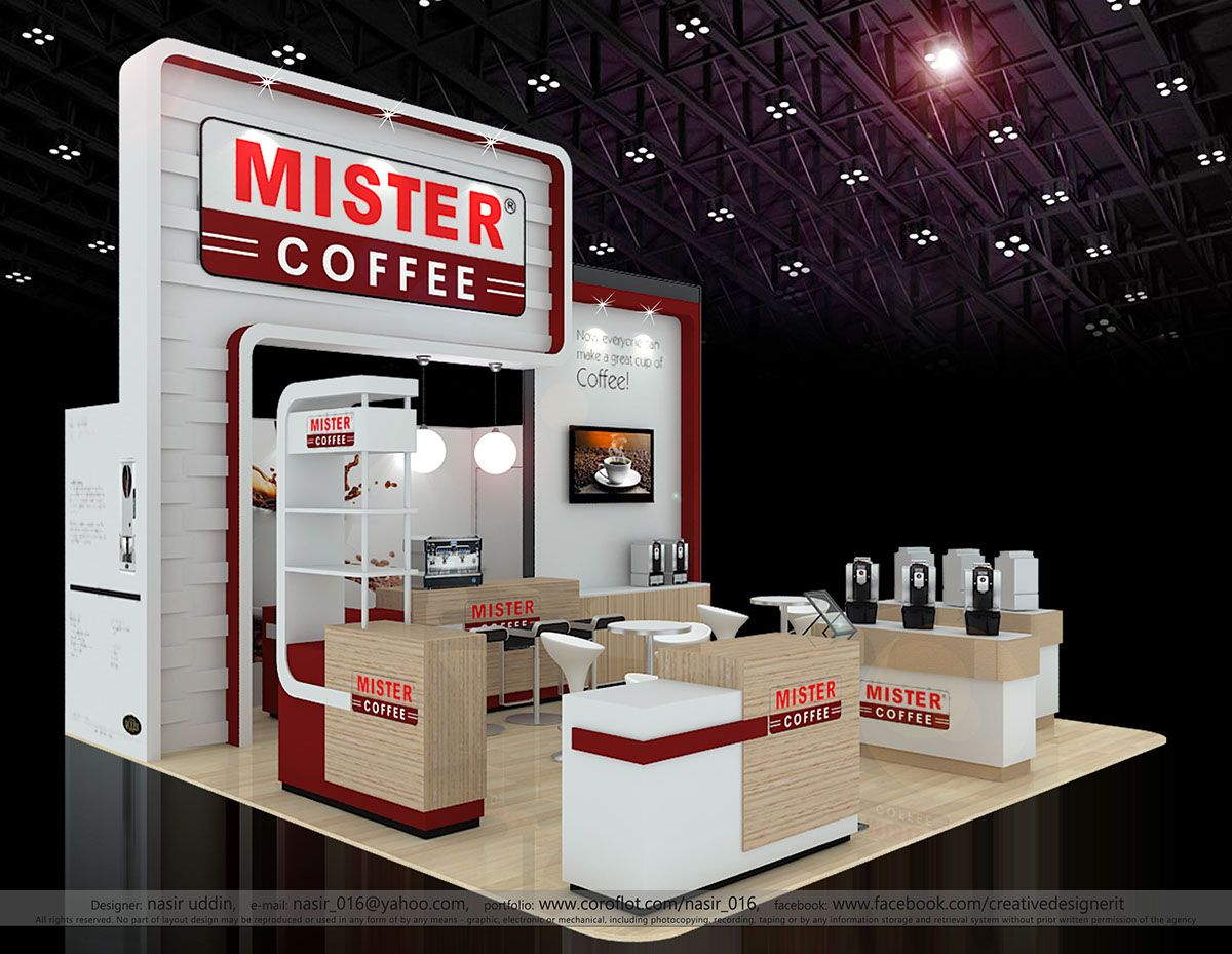 Exhibition Stand Coffee : Designer mister coffee fhm on behance exhibition coffee