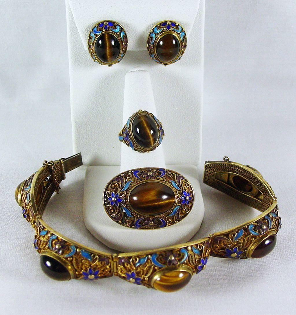 Tigers eye jewelry sets tigers eye pinterest eye jewelry tigers eye jewelry sets mozeypictures Images
