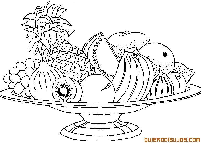 Tazon Con Frutas Para Colorear Buscar Con Google Frutas Para