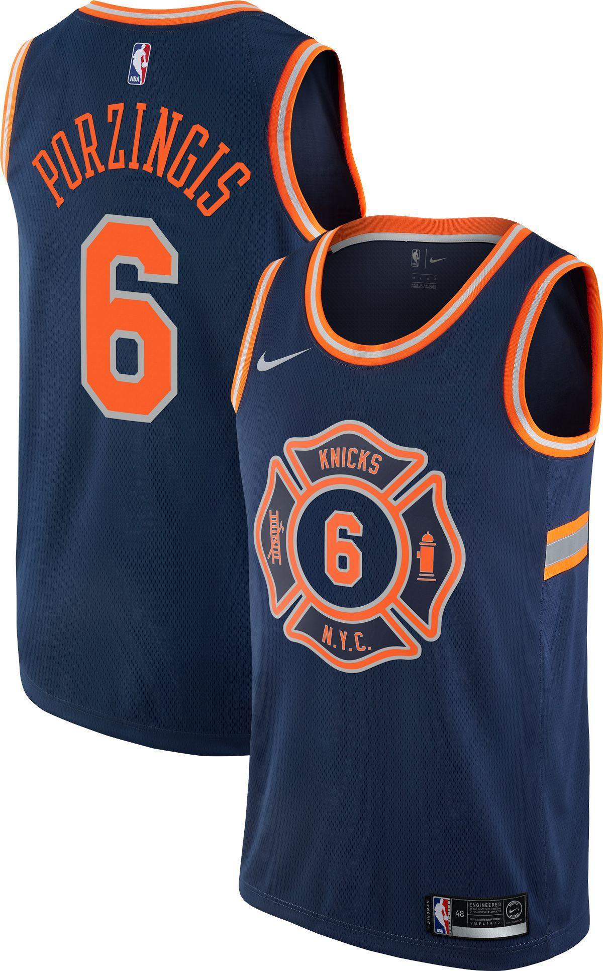 buy online 39371 3ce5b Nike Men's New York Knicks Kristaps Porzingis Dri-FIT City ...