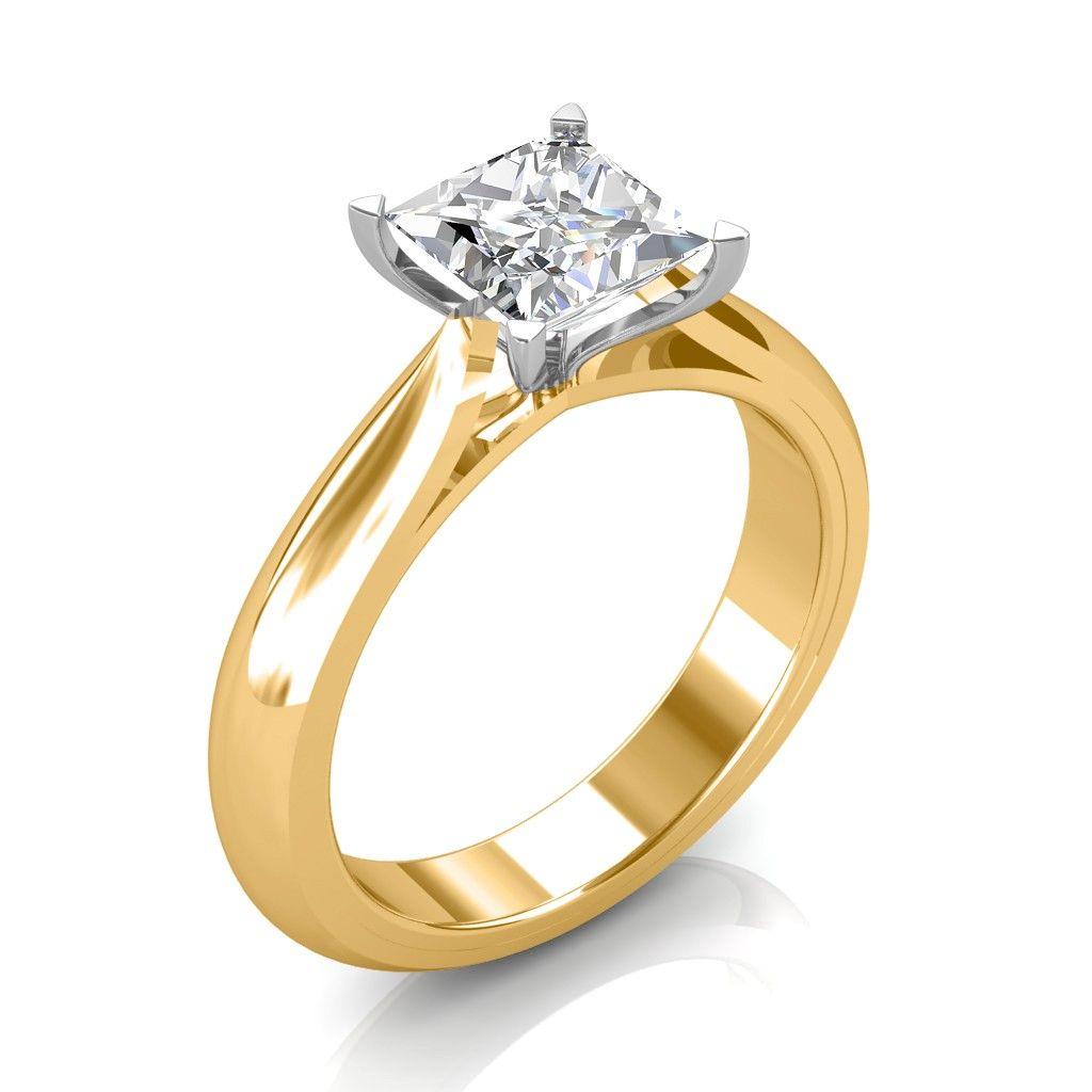 carat k yellow gold serenity engagement ring serenity