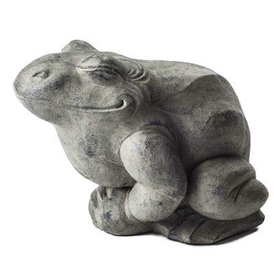My Spirit Garden Volcanic Ash Contented Toad Statue Color ...