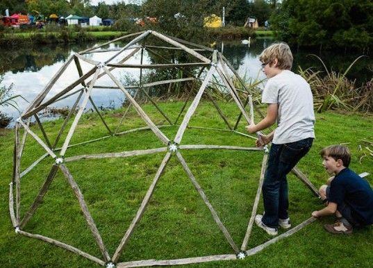 Hubs Is A Backyard Geodesic Dome Kit That Kids Can Construct Themselves Geodesic Dome Geodesic Dome Kit Geodesic