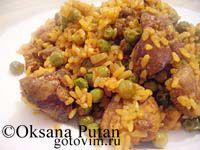 Нежная куриная печень с рисом и горошком. Фото-рецепт