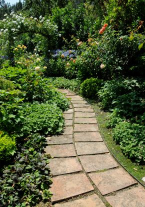 Stone Garden Path Ideas backyard pathway ideas inexpensive walkways and paths natural flagstone garden path idea 9 great garden pathway Design A Stepping Stone Path Ideas Images Tips And Advice
