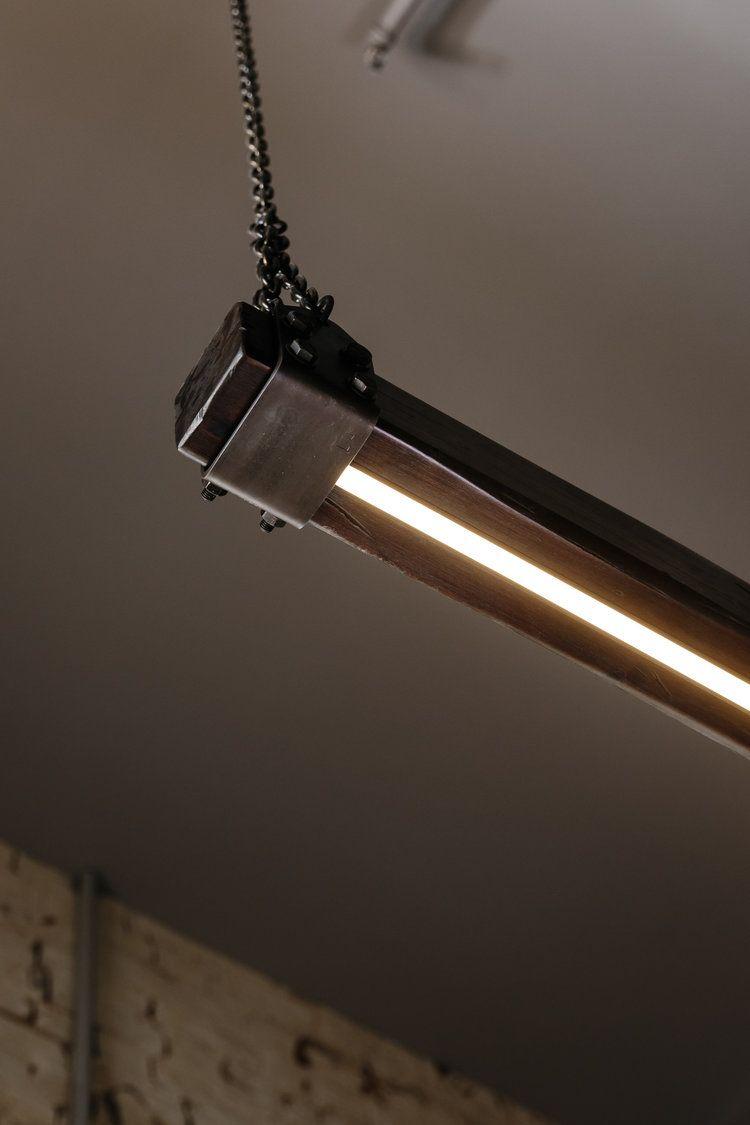 Timber Beam Led Linear Pendant Light Ceiling Lights Diy Linear Pendant Lighting Led Pendant Lights