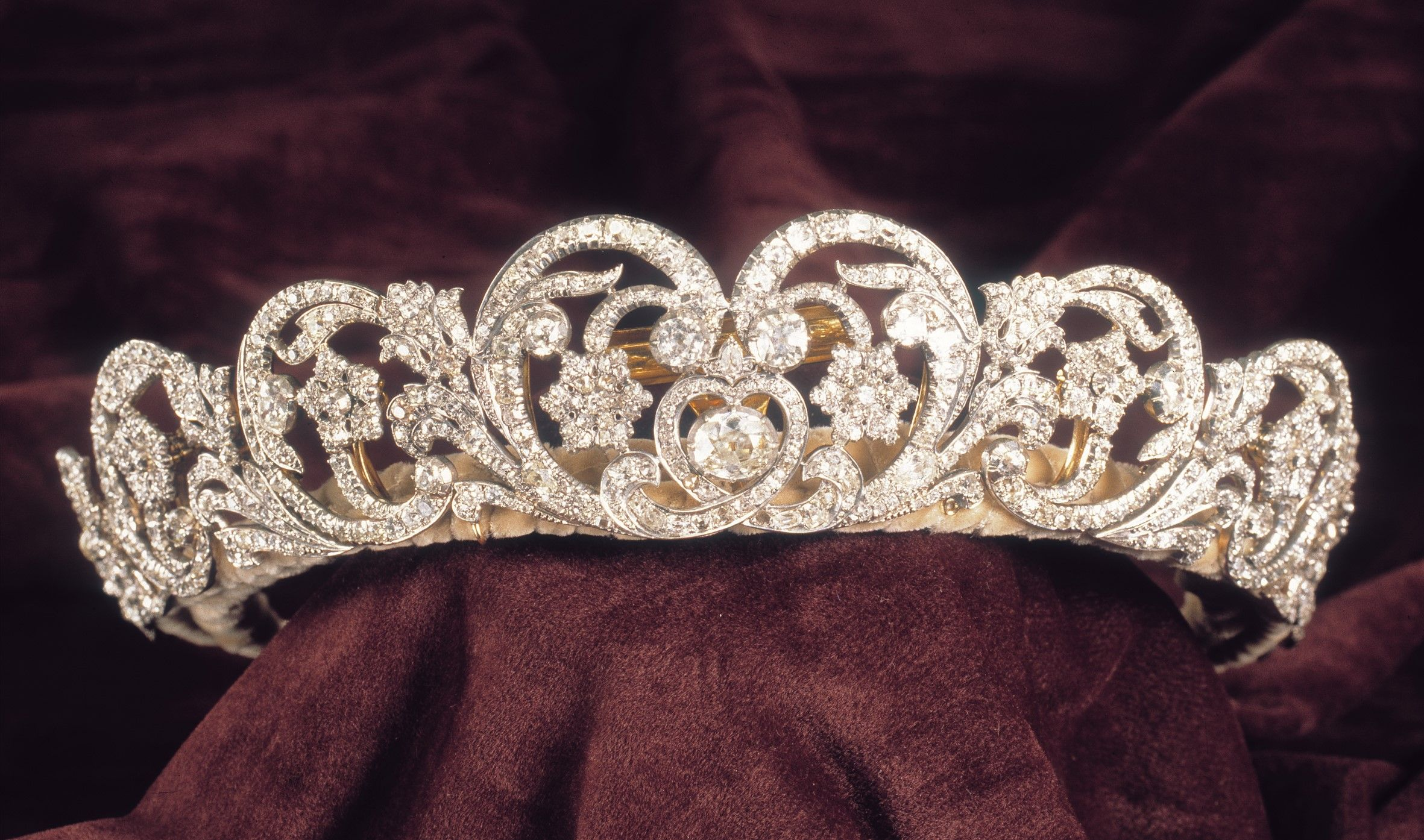Baroque Princess Diana William Kate Bridal Crown Tiaras