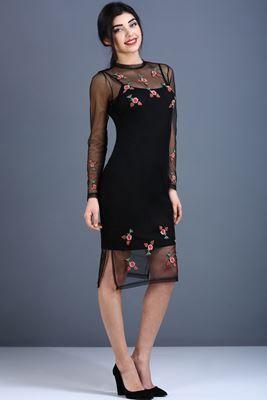 4acc1e76bd291 Patırtı Elbise Modelleri 2017 | Hamilelik Belirtileri | Siyah elbise ...