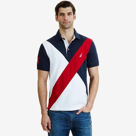 6d96f9261 Nautica Classic Fit Diagonal Color Block Polo Shirt in 2019 ...