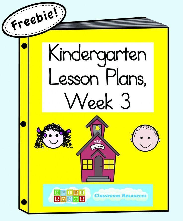 Kindergarten Lesson Plans Week Three! Kindergarten and Homeschool - kindergarten lesson plan
