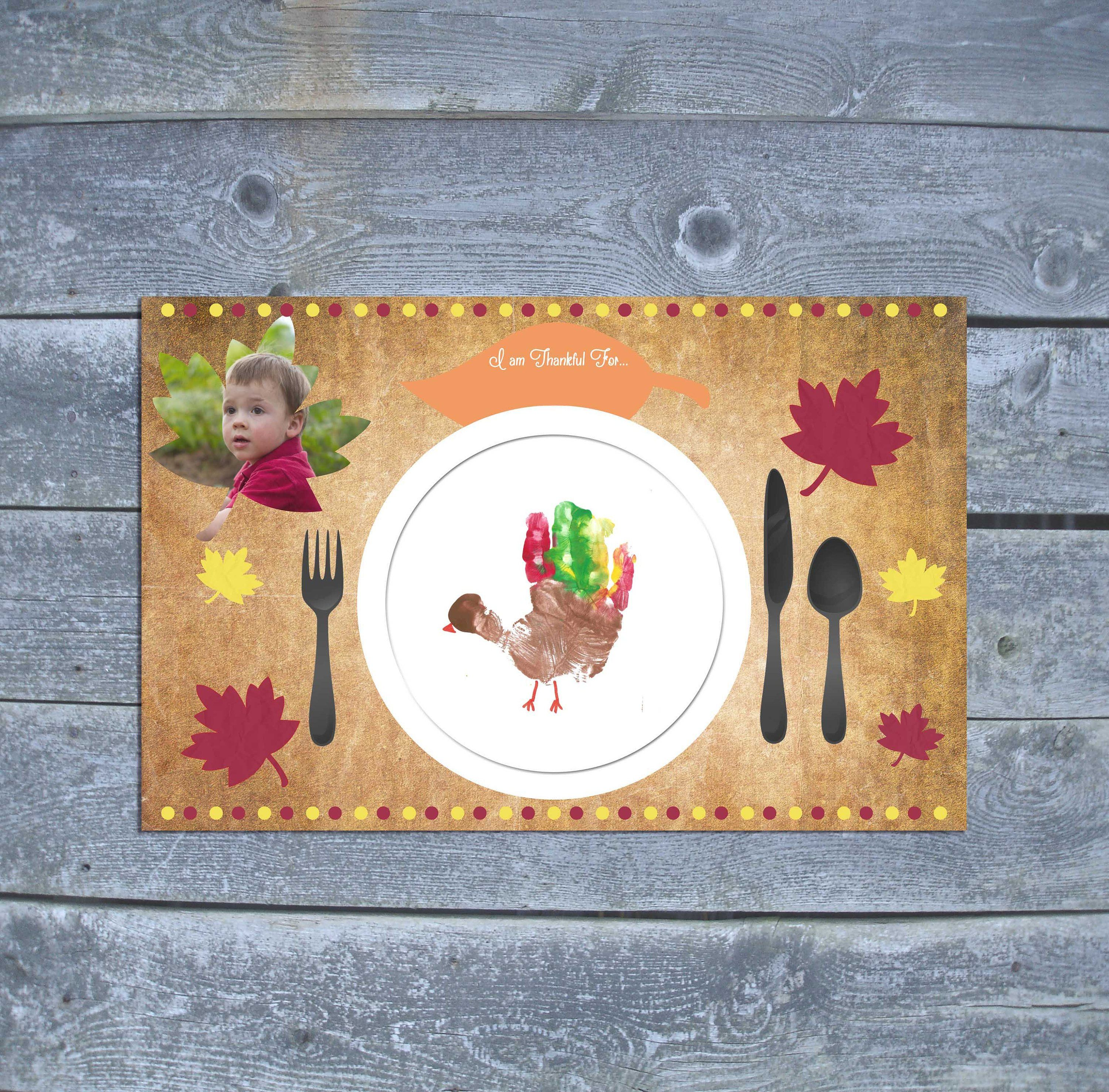 Thanksgiving Placemat - Thanksgiving Craft for Kids - Thanksgiving Decor - Thanksgiving Gift - Download or custom