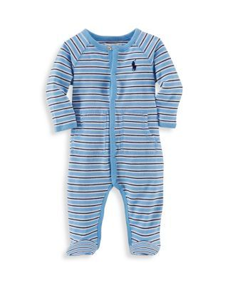 d6a2ef0e29e1 Ralph Lauren Childrenswear Infant Boys  Interlock Stripe Footie - Sizes  Newborn-9 Months