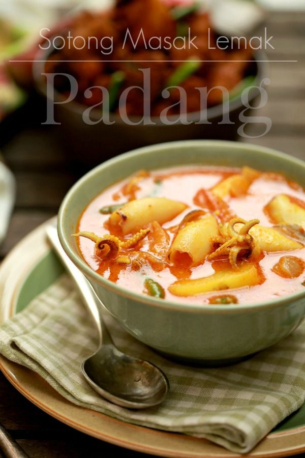 Sotong Masak Lemak Padang Masam Manis Resep Makanan Resep Masakan Malaysia Resep Masakan Asia
