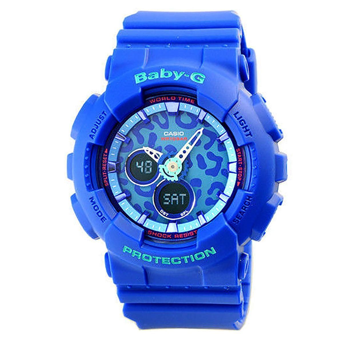 Casio Baby G Ba 120lp 2a Leopard Design Analog Digital Blue Resin 112 4a Pink Ladies Watch