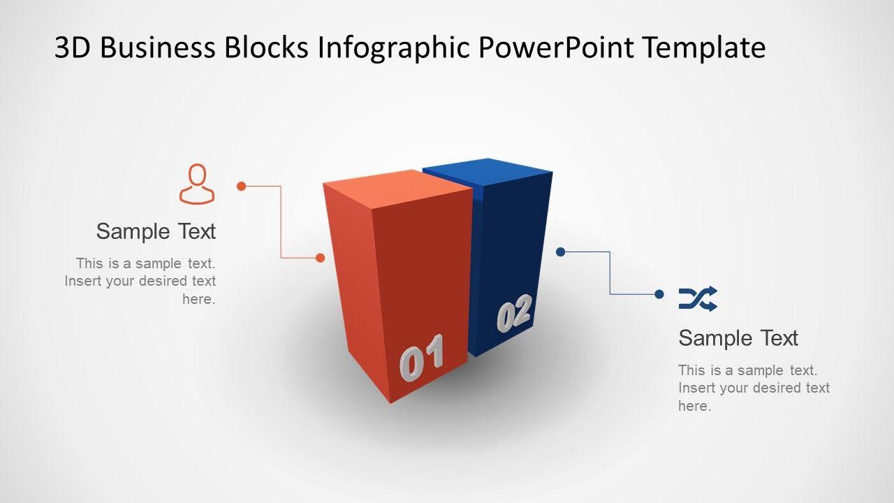 Animated 3D Business 2 Blocks Diagram for PowerPoint - SlideModel    Powerpoint [ 720 x 1280 Pixel ]