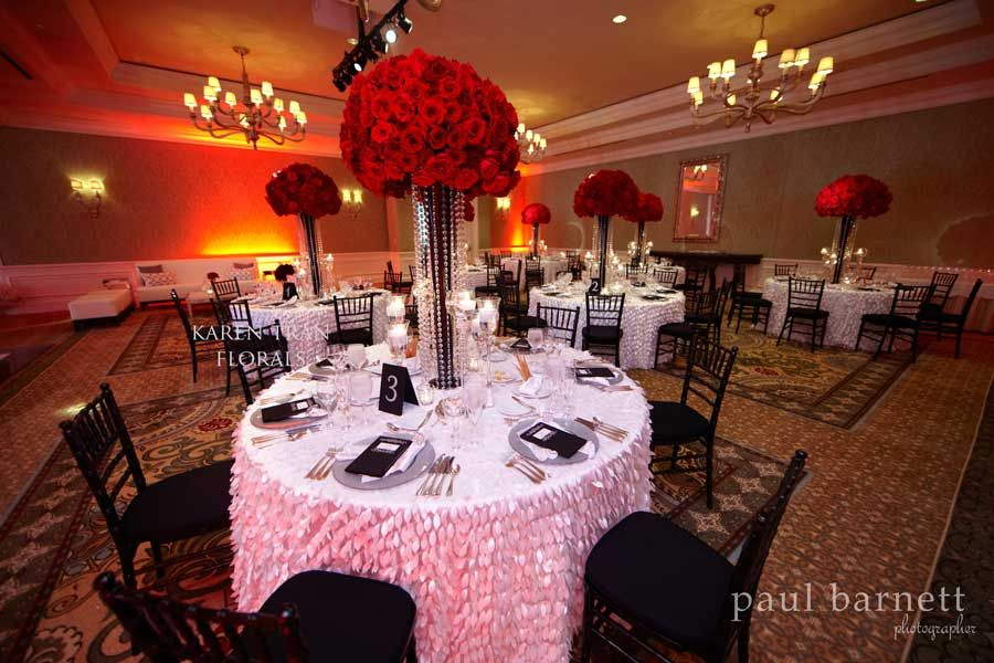Silver Red And Black Wedding Decor The Jaw Dropping Florals And