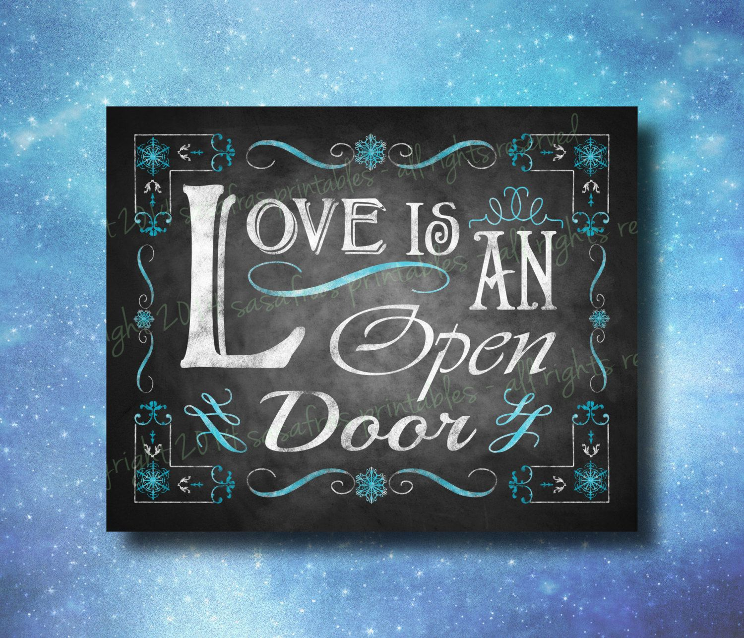 Frozen Inspired Printable Wedding Sign By Sasafrasprintables 3 00 Printable Wedding Sign Frozen Wedding Wedding Chalkboard Signs