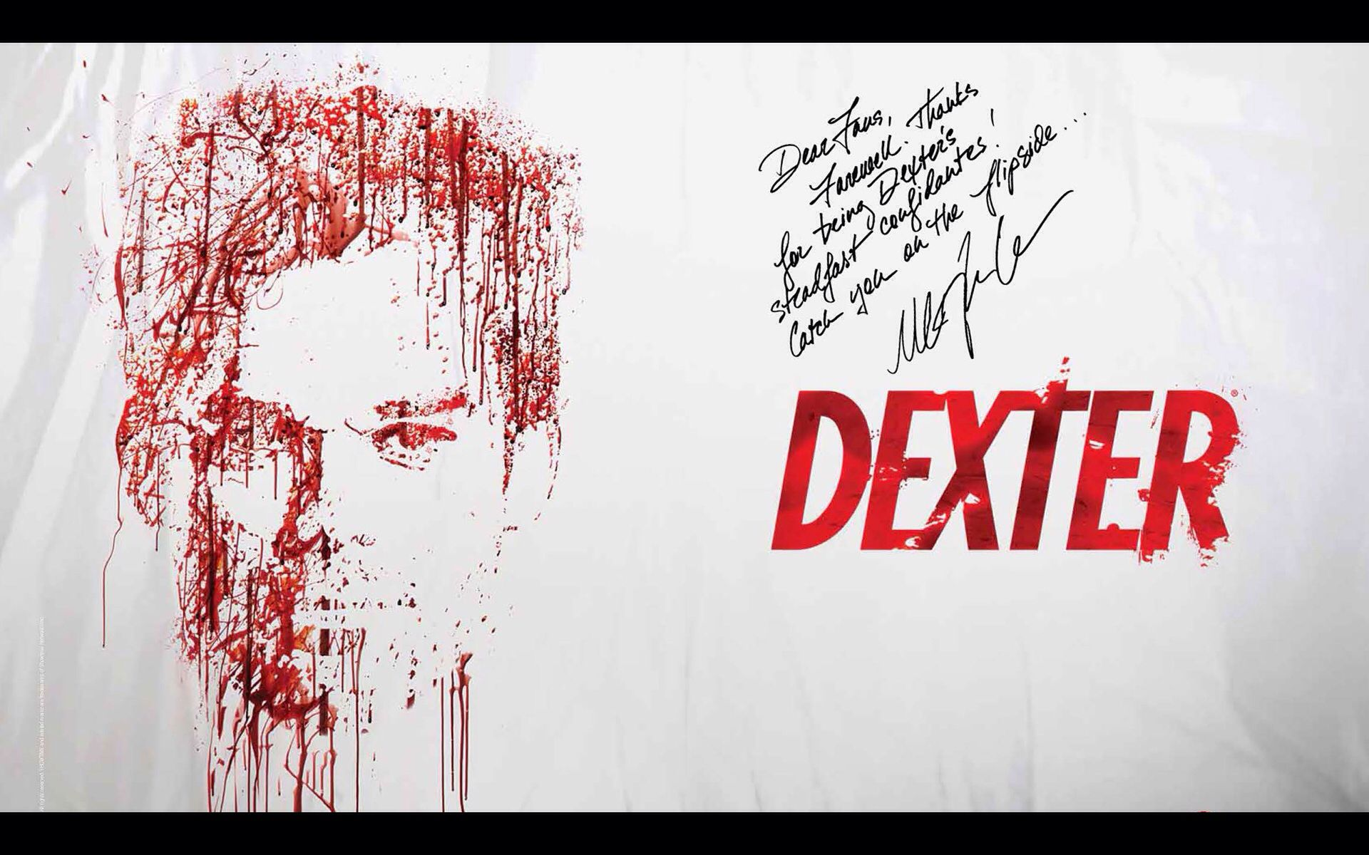 Dexter Autographed Book I Own The Complete Season In The Slide Gift Box Set With The Book It Looks Just Like His Bloo Dexter Wallpaper Dexter Dexter Quotes