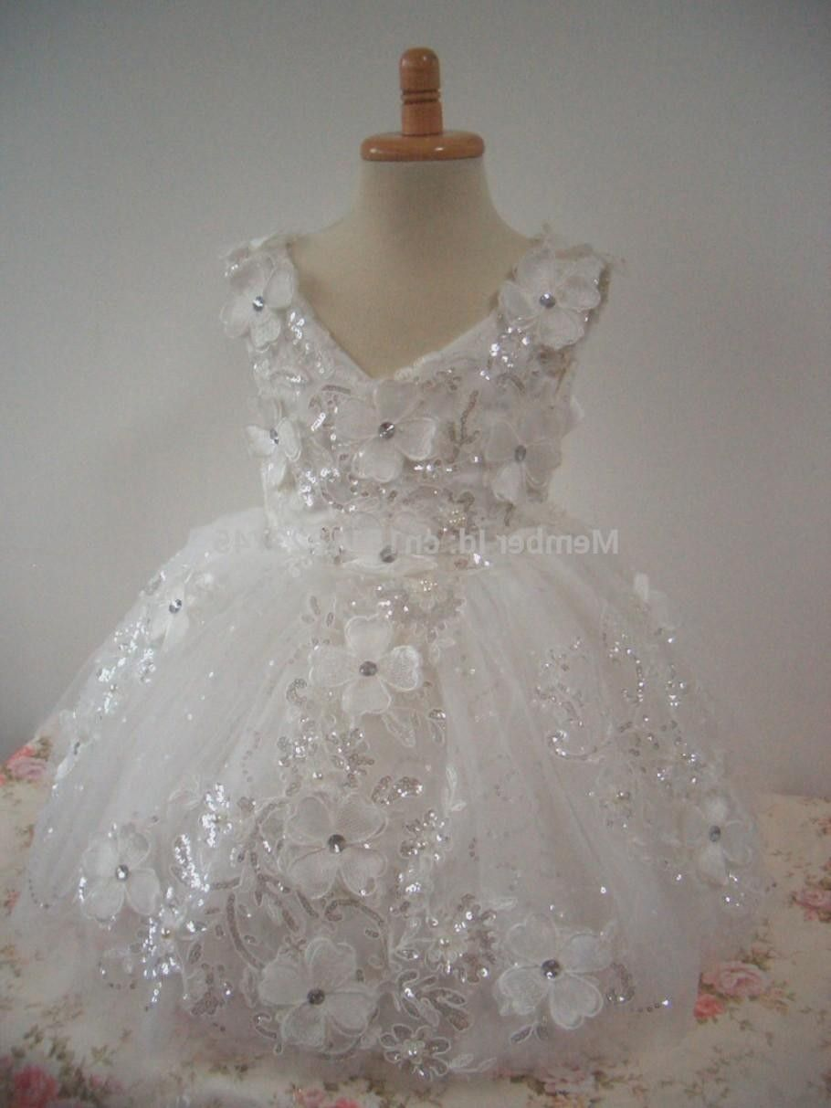 f051b2002ec4b Flower Girl Dress Little Baby Girl Baptism Dress Lace Infant ...