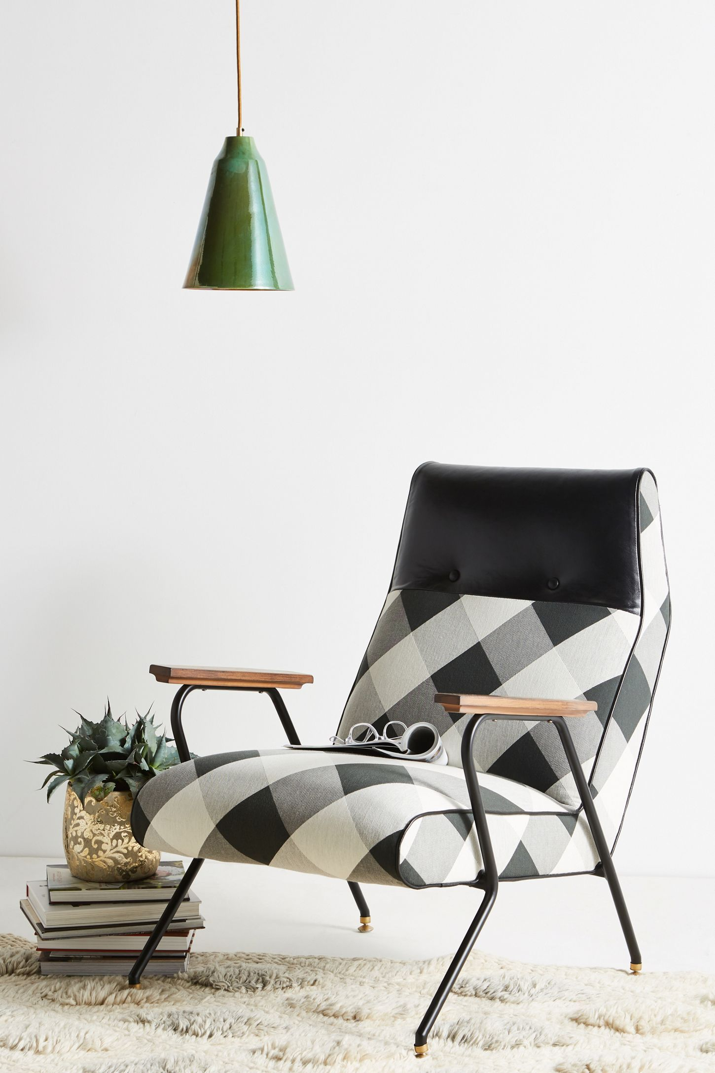 Buffalo check quentin chair lounge chair chair