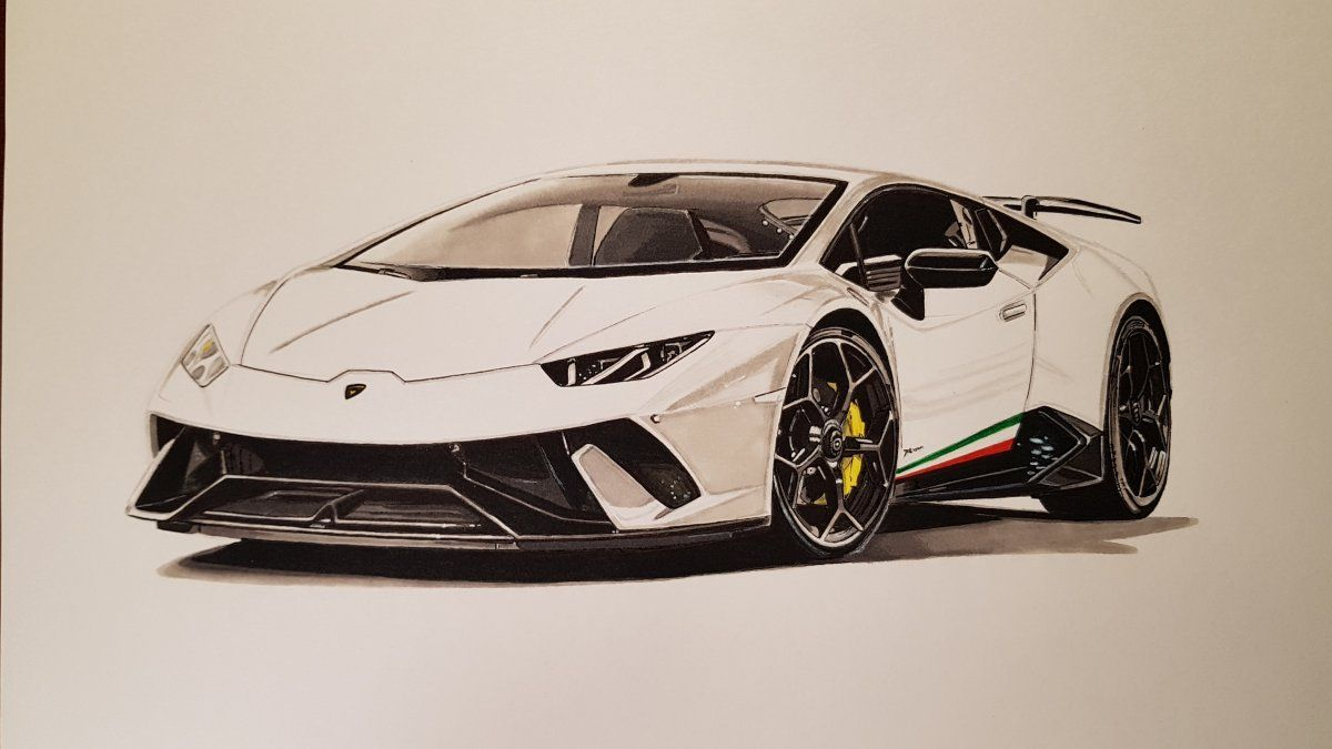 Lamborghini Huracan Performante Dgualti29 Lamborghini Car Drawings Super Cars