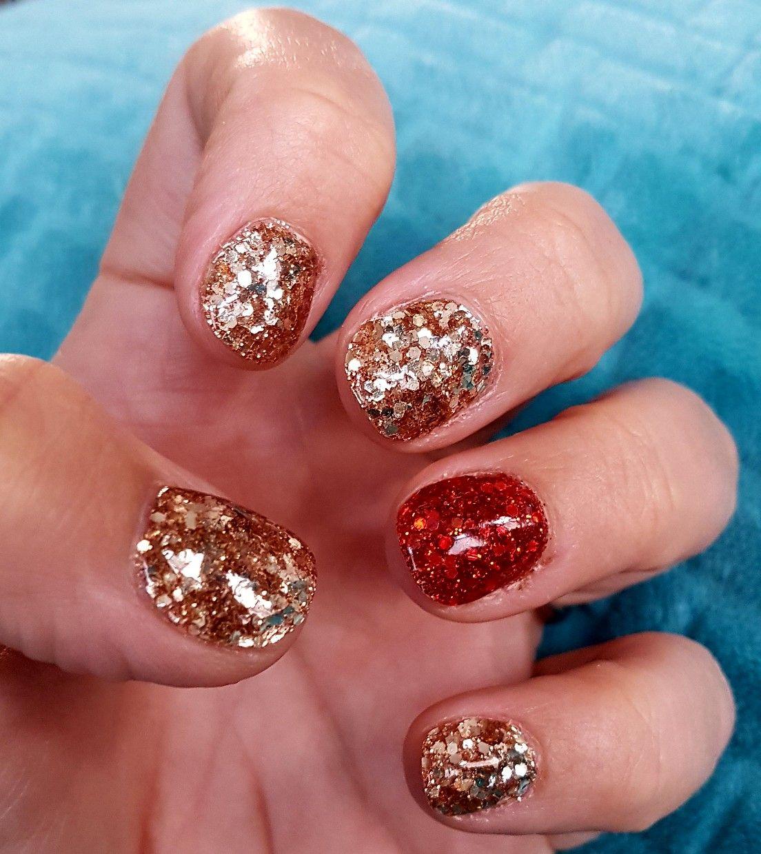 Christmas Dipping Powder Nails Dip Powder Nails Powder Nails Holiday Nails Christmas