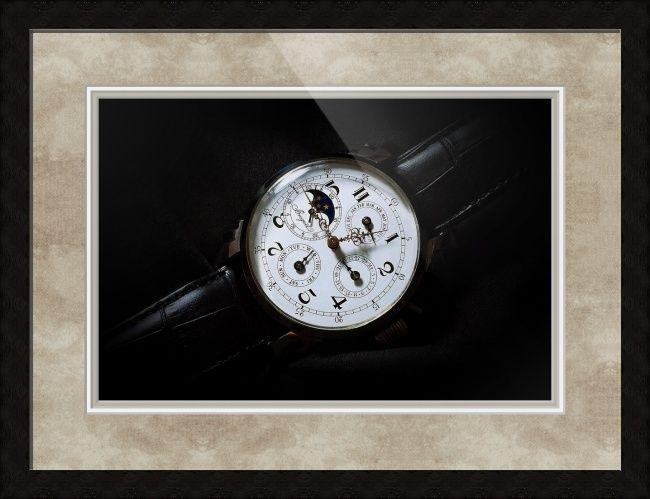"Breguet Moonphase Triple Calendar Swiss Watch // Paper: enhanced matte; Glazing: acrylic; Moulding: black, ashland ebony; Top Mat: black/gray, rustic pewter; Middle Mat: white/cream, canvas; Bottom Mat: black/gray, granite // Price starts at $178 (Petite: 20.25"" x 23.25""). // Customize at http://www.imagekind.com/Breguet-Moonphase-Triple-Calendar-Swiss-Timepiece_art?IMID=60cf7cc5-000e-433f-9585-738260b6974f"