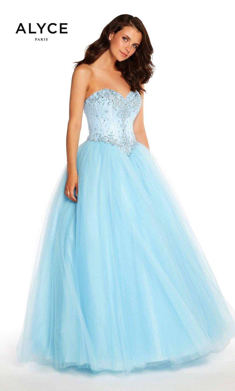 Prom dresses evening dresses by alyce parisucbrueaayucbruestrapless