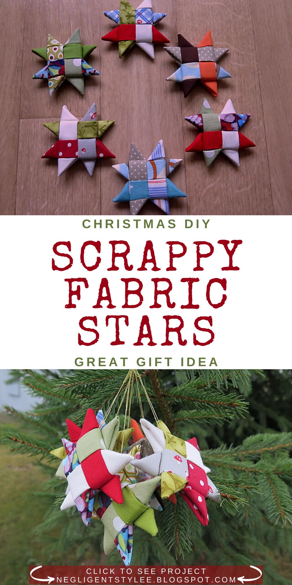 Christmas Diy Scrappy Fabric Stars Christmas Fabric Crafts Fabric Stars Christmas Diy