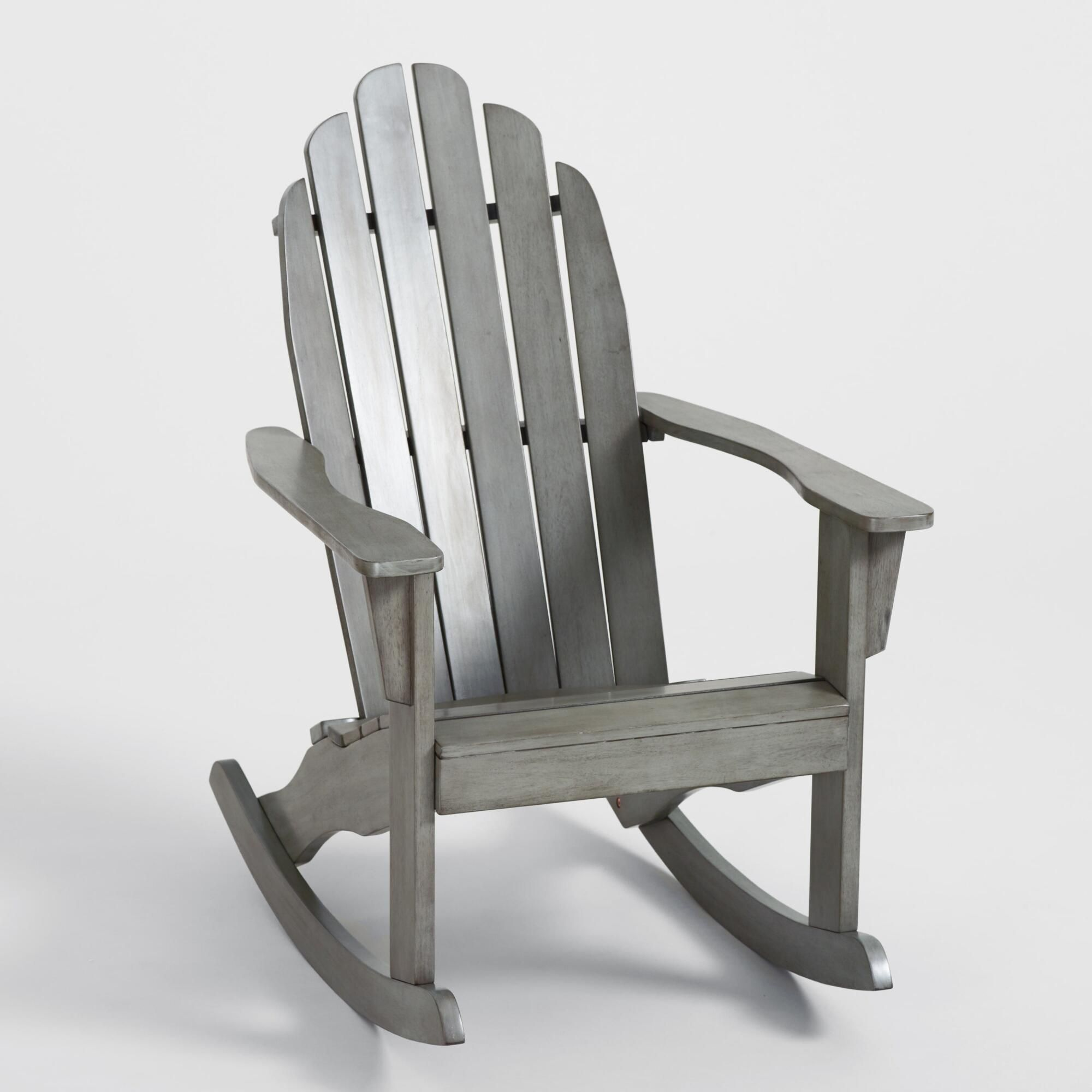 Gray Adirondack Rocking Chair By World Market In 2020 Adirondack