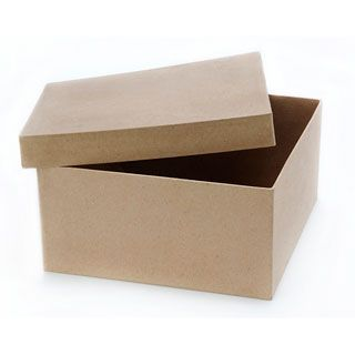 Square Paper Mache Box With Lid 9 X 9 X 4 Inches Paper Mache Boxes Paper Box Diy Square Paper