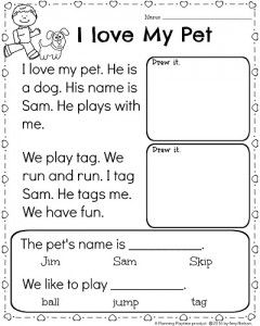 Kindergarten Math and Literacy Worksheets for February | Language ...