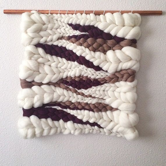 Wall Hangings Etsy woven wall hanging wool roving weavingjeanniehelzer on etsy
