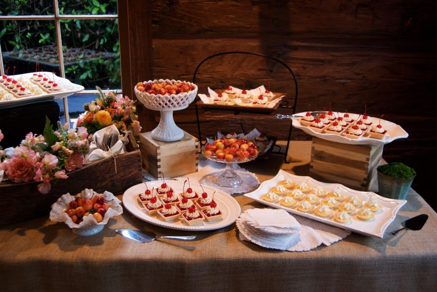 Cherry And Lemon Tart Display Wedding Appetizer Table Buffet