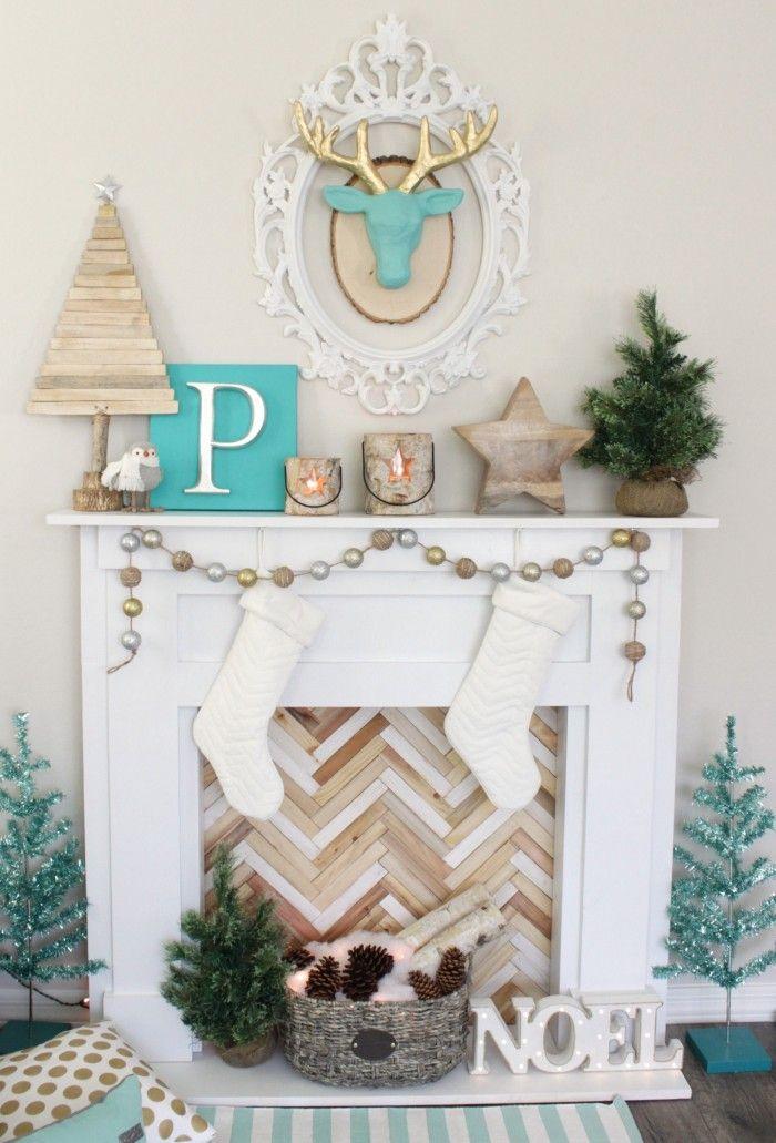 diy faux fireplace mantel la beaut vient de l. Black Bedroom Furniture Sets. Home Design Ideas