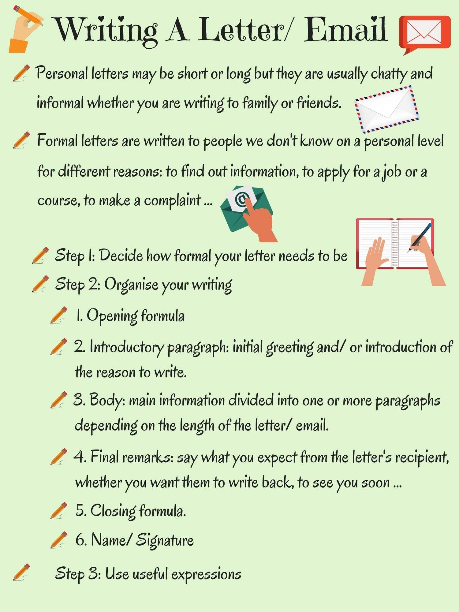 informal vs formal english writing a letter or email 1 2 english