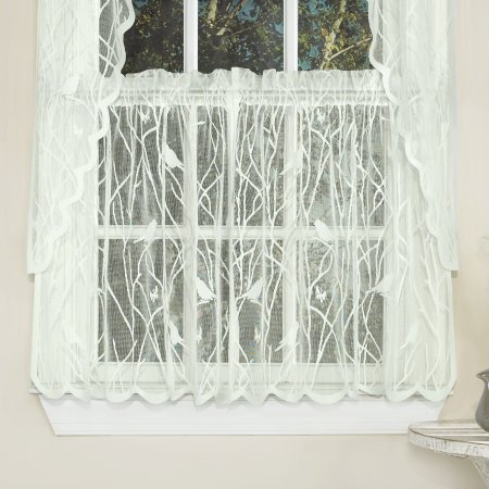 Knit Lace Song Bird Kitchen Window Curtain 24 Inch 36 Inch Tier
