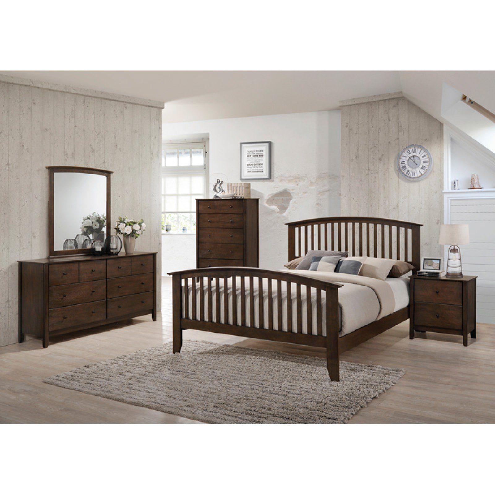 Best K B Furniture Chestnut Brown Wood Queen Size Panel Bed 640 x 480