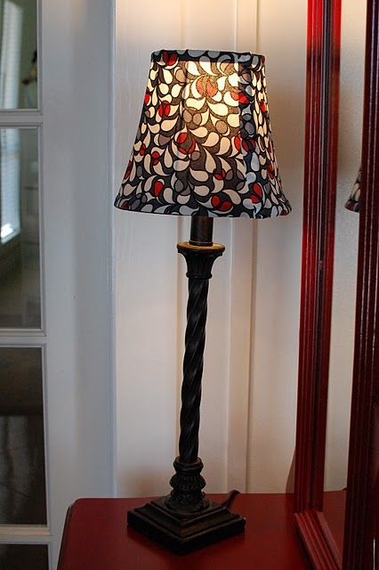 how to recover a lamp shade For the Home Pinterest - Lamparas Caseras