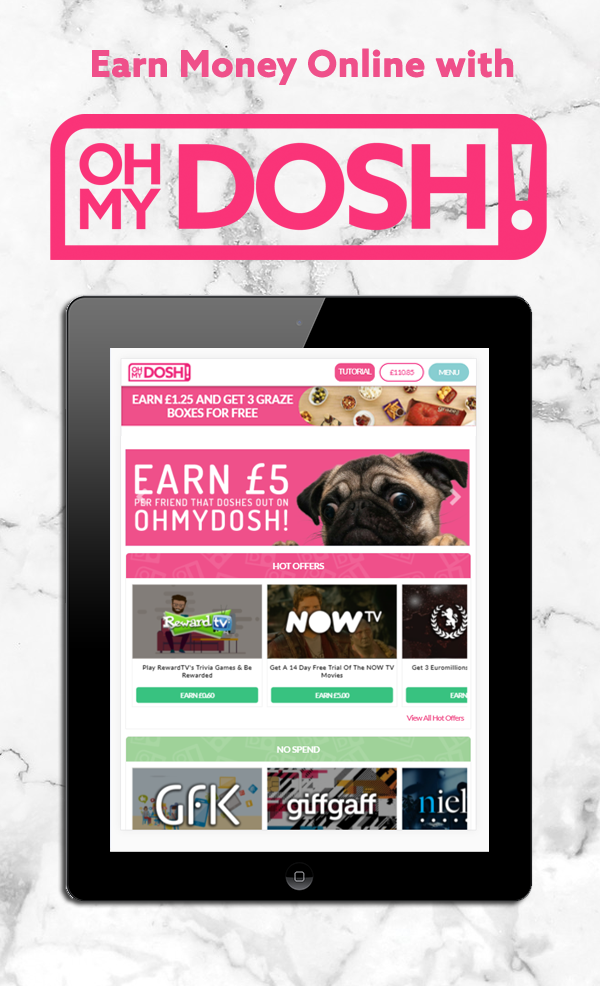 Ohmydosh Is So Easy To Use You Can Start Growing Your Dosh Balance Right Away By Completing Offers Taking Free Trials And Much More