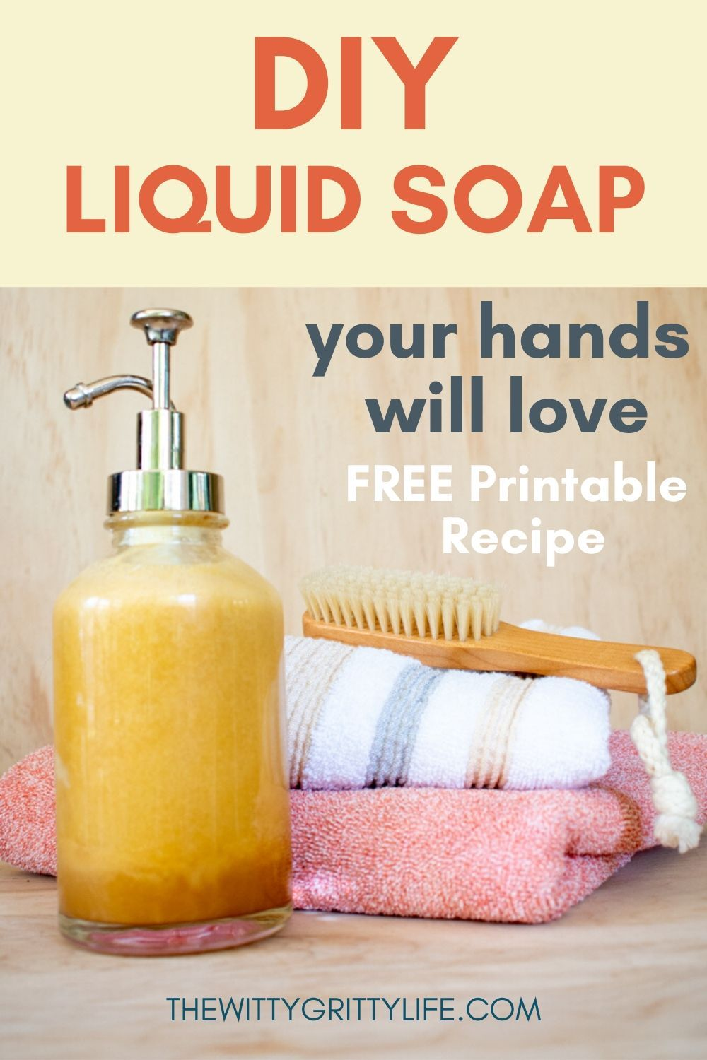 How to Make Liquid Soap that is Actually Good for Your