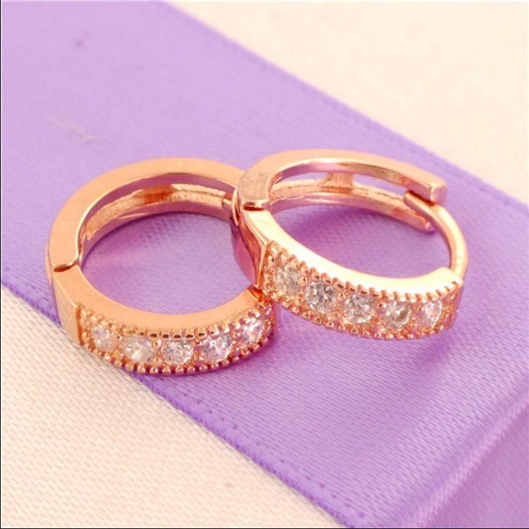 14k Rose Gold Filled Wonderful Hoop Earrings