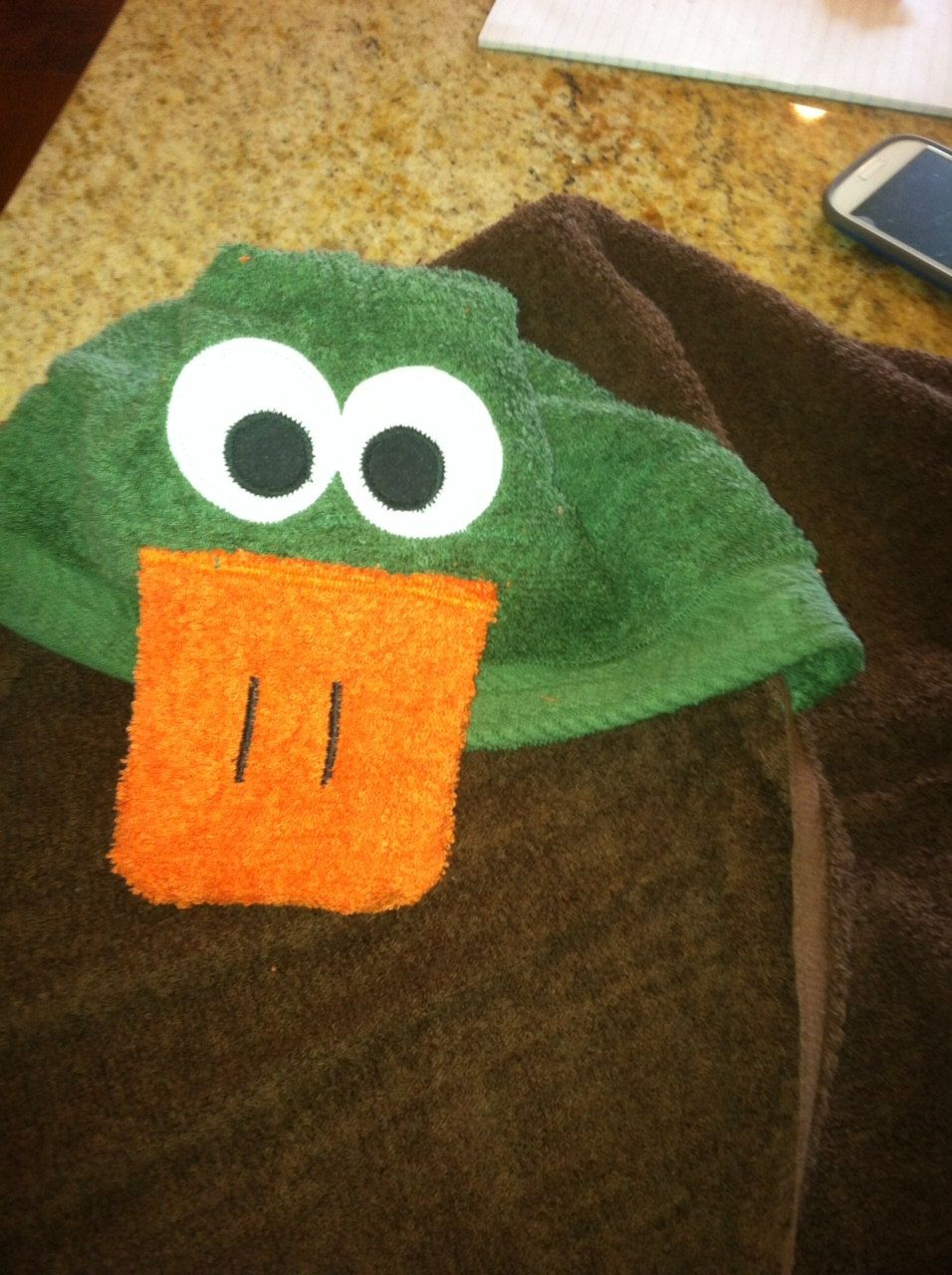 Handmade+duck+hooded+towel.+by+MonkeyCMonkeyB+on+Etsy,+$25.00